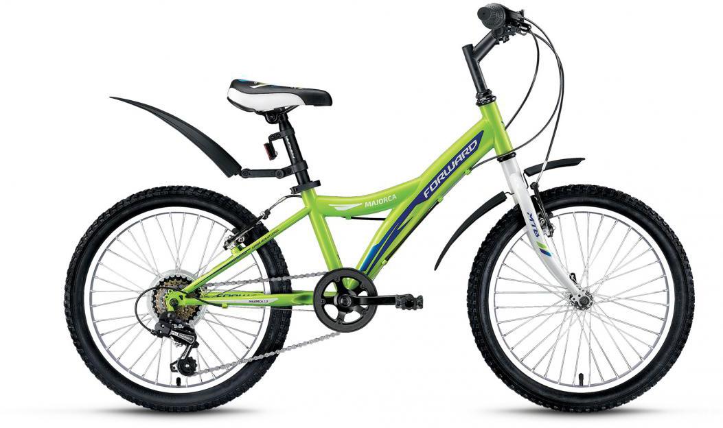 Велосипед детский Forward Majorca 2.0 2016, цвет: зеленый, рама 10,5, колесо 20275299