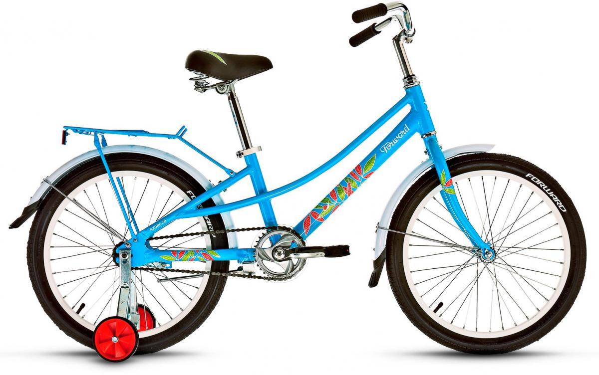 Велосипед детский Forward Azure 2016, цвет: голубой, рама 10,5, колесо 20 велосипед forward azure 20 20 2016