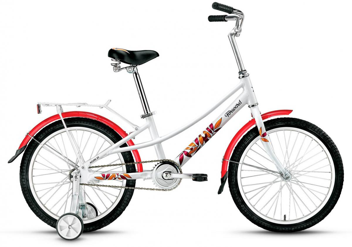 Велосипед детский Forward Azure 2016, цвет: белый, рама 10,5, колесо 20 велосипед forward azure 20 20 2016