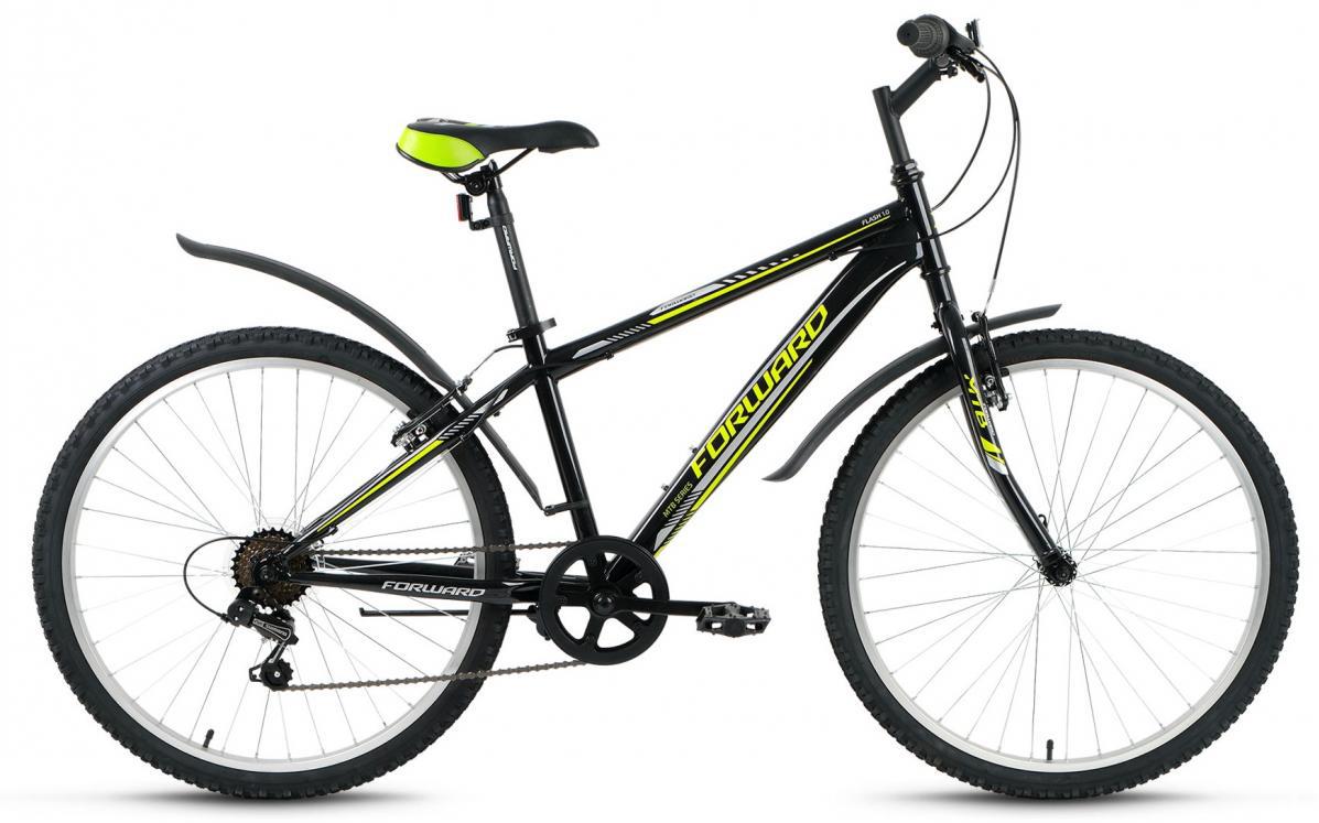 Велосипед горный Forward Flash 1.0 2016, цвет: черный, рама 15, колесо 26275351