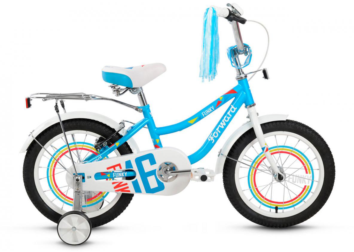Велосипед детский Forward Funky Girl 2016, цвет: голубой, колесо 16275355