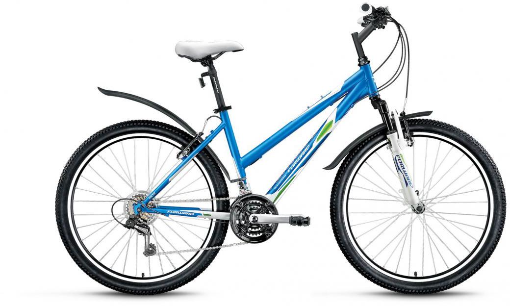 Велосипед горный Forward Iris 1.0 2016, цвет: синий, рама 17, колесо 26 велосипед forward iris 26 1 0 2017