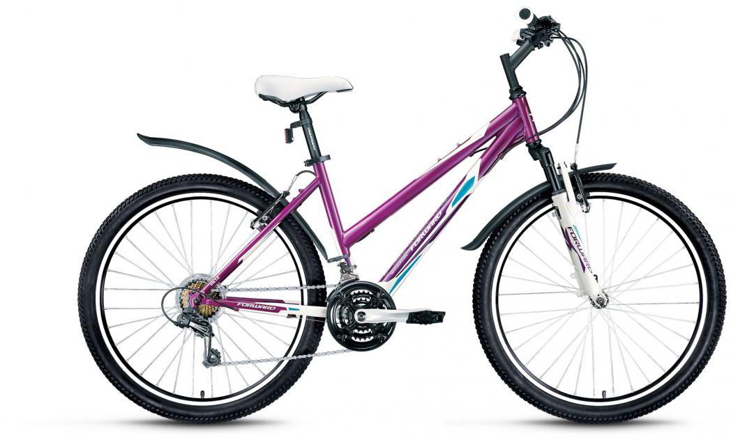 Велосипед горный Forward Iris 1.0 2016, цвет: фиолетовый, рама 17, колесо 26 велосипед forward iris 26 1 0 2017