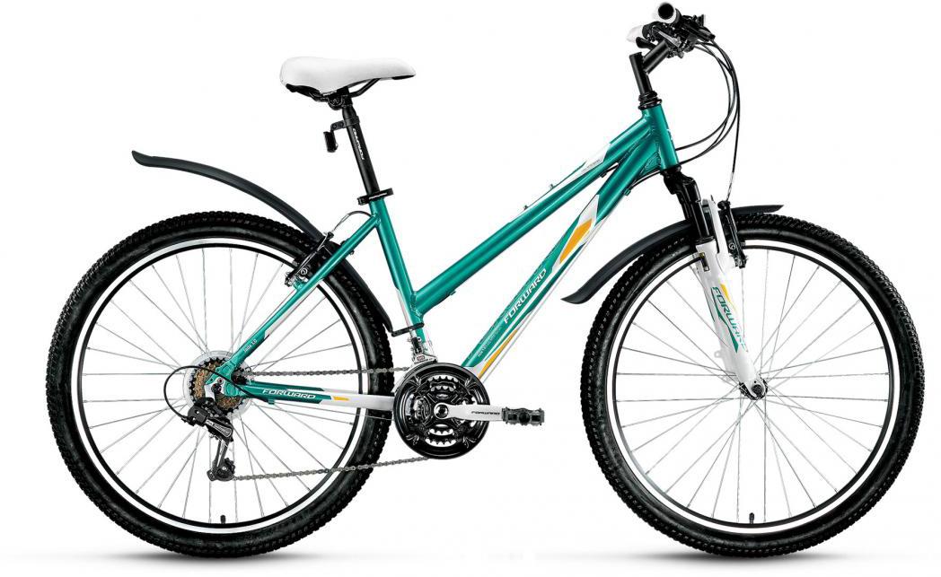 Велосипед горный Forward Jade 1.0 2016, цвет: зеленый, рама 17, колесо 26275359