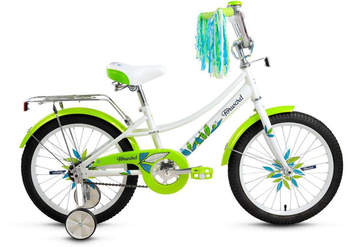 Велосипед детский Forward Little Lady Azure 2016, цвет: белый, колесо 18 велосипед forward little lady azure 20 2014