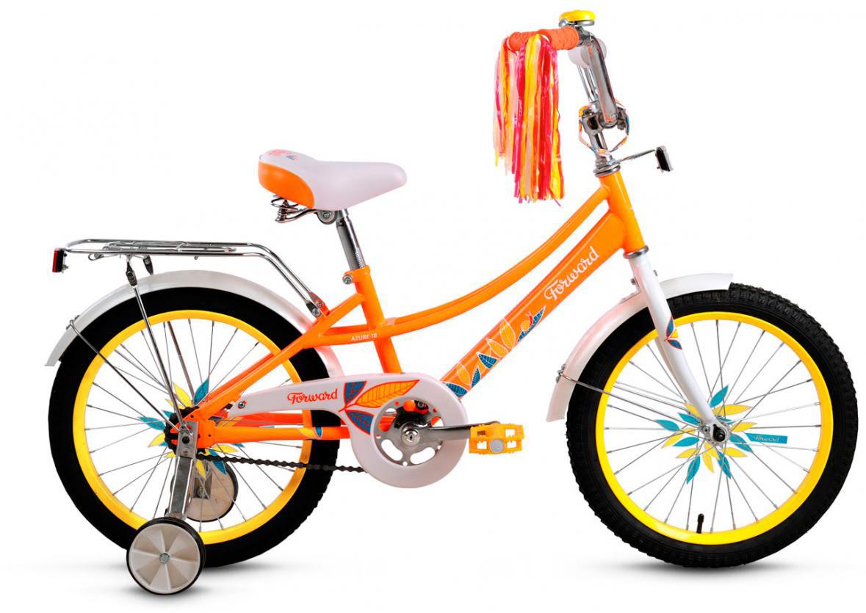 Велосипед детский Forward Little Lady Azure 2016, цвет: оранжевый, колесо 18 велосипед forward little lady azure 20 2014