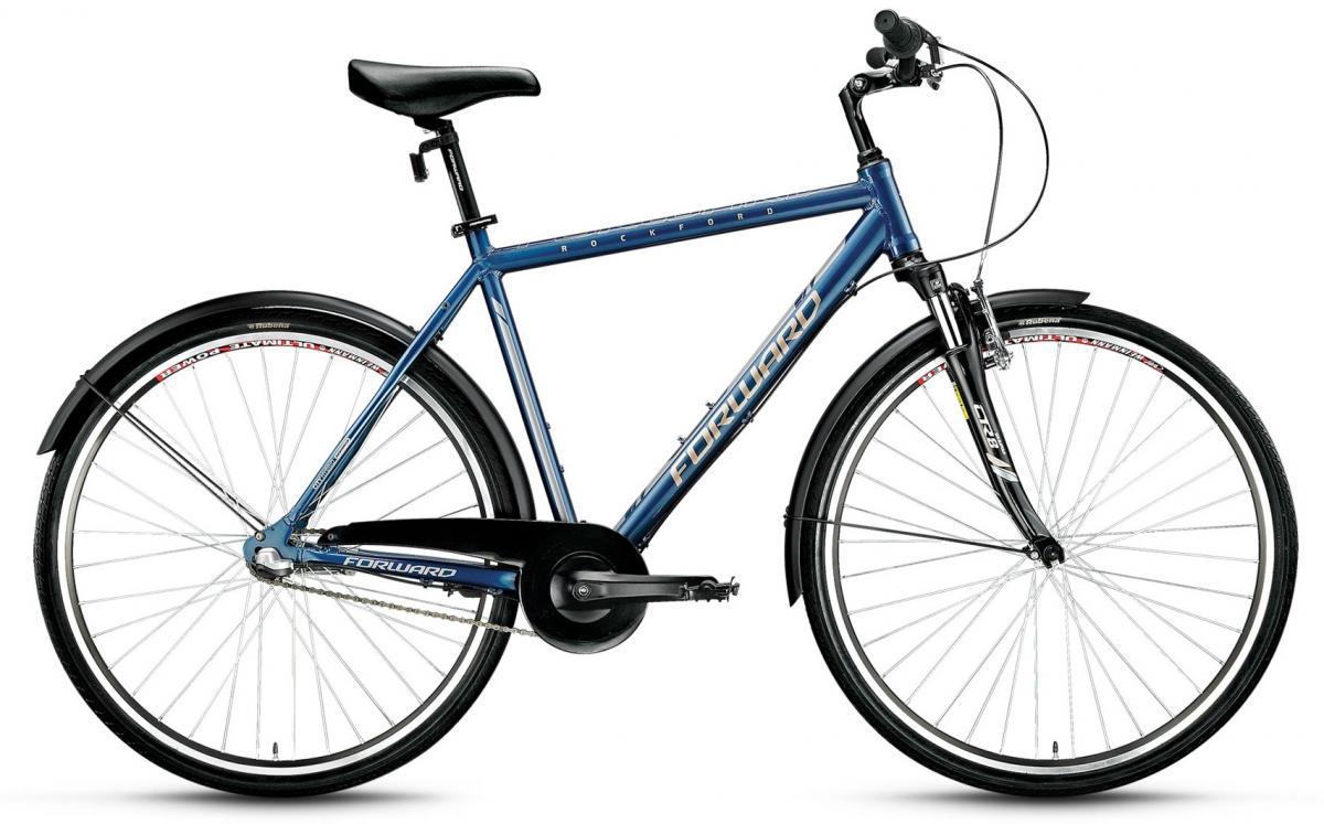 Велосипед городской Forward Rockford 2.0 2016, цвет: синий, рама 21, колесо 28275369