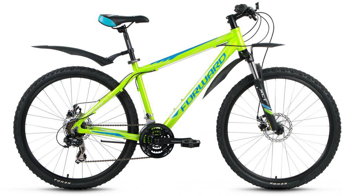Велосипед горный Forward Apache 2.0 2016, цвет: зеленый, рама 17, колесо 26 forward apache 2 0 disc 17 2016 grey matt