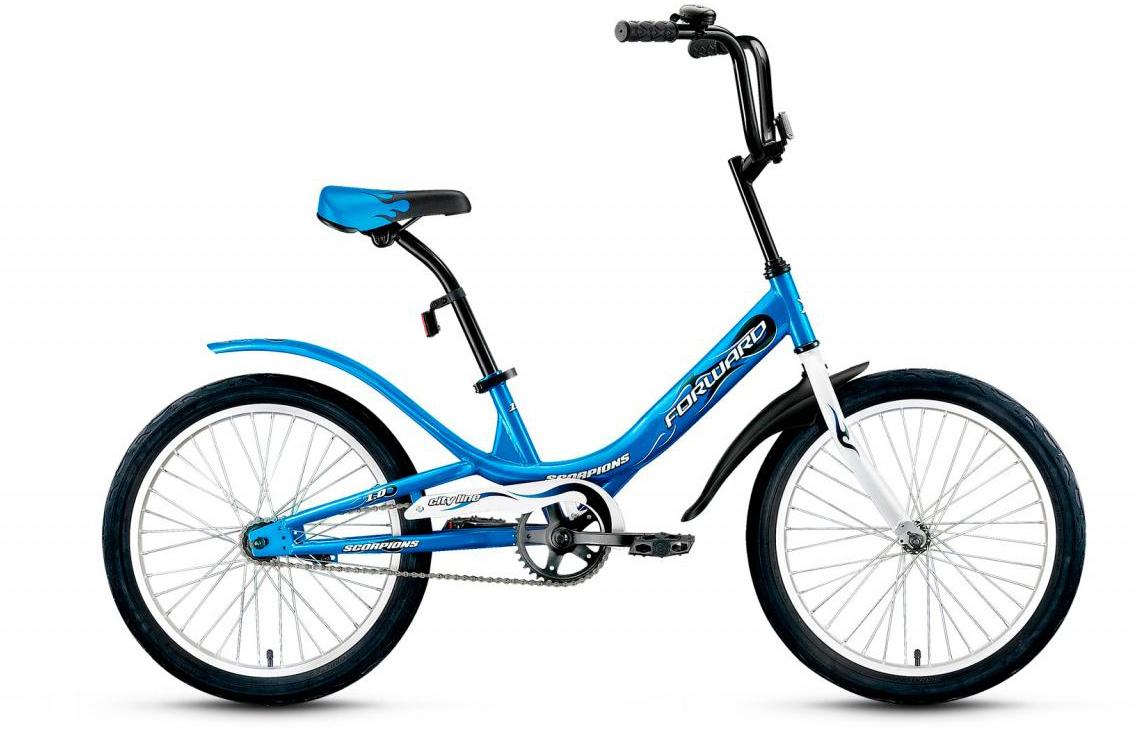 Велосипед детский Forward Scorpions 1.0 2017, цвет: синий, рама 10,5, колесо 20279282