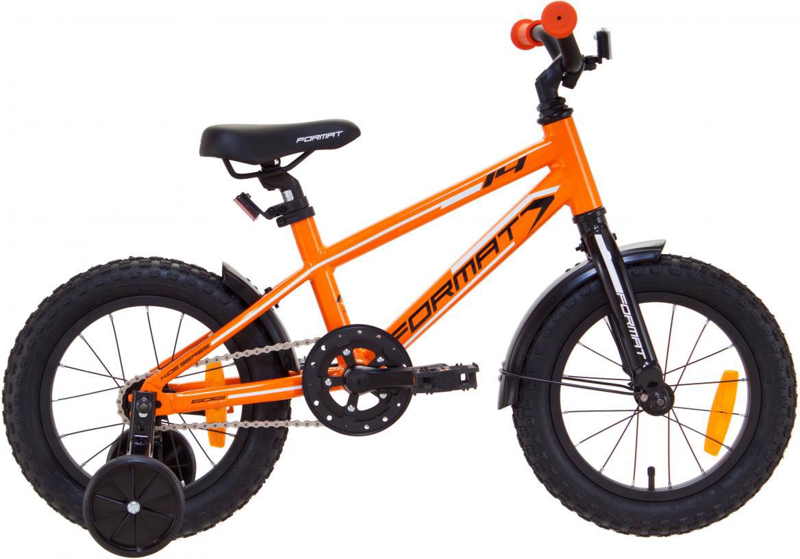 Велосипед детский Format Kids Boy (2017), цвет: оранжевый, колесо 14 велосипед format kids girl 14 2017