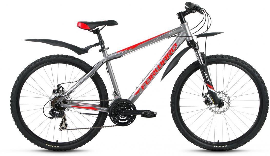 Велосипед горный Forward Apache 2.0 2016, цвет: серый, рама 17, колесо 26 forward apache 2 0 disc 17 2016 grey matt