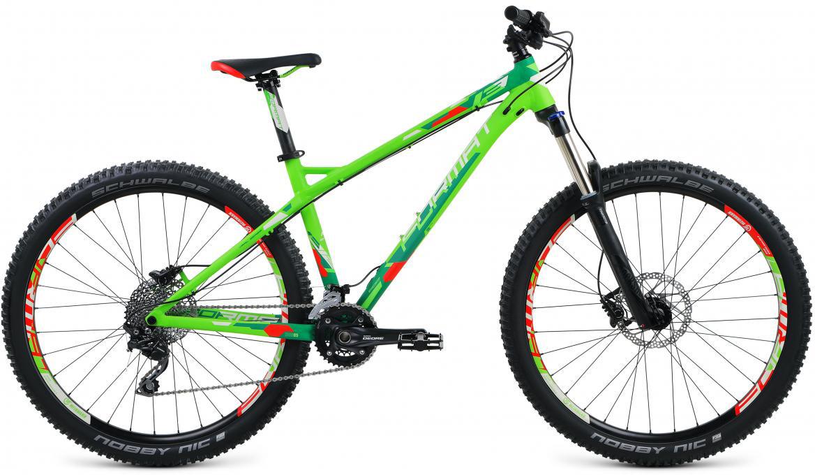 Велосипед горный Format 1312 (2017), цвет: зеленый, рама 18, колесо 27,5279720
