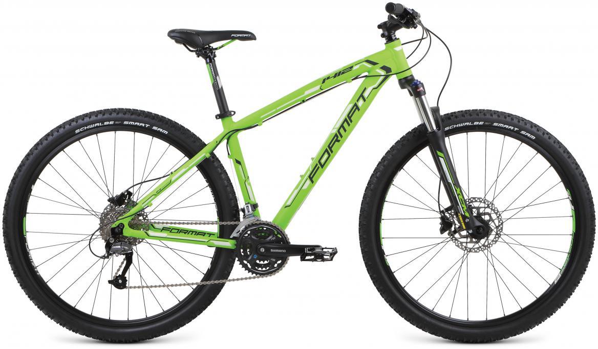 Велосипед горный Format 1412 (2017), цвет: зеленый, рама 20, колесо 29279733