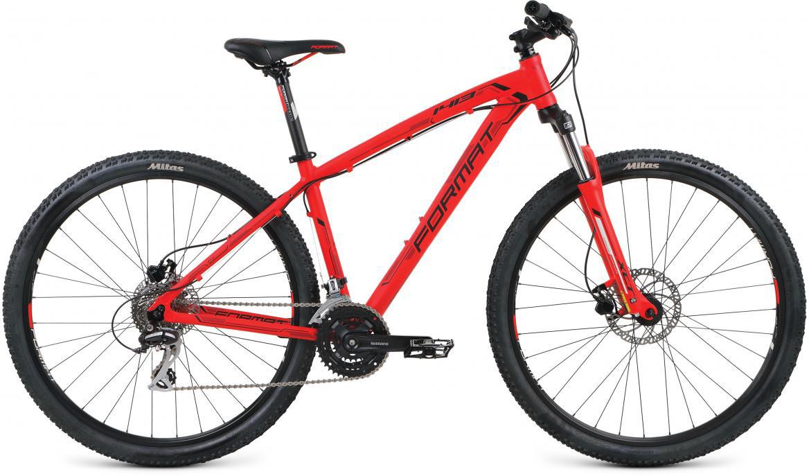 Велосипед горный Format 1413 (2017), цвет: красный, рама 18, колесо 29279736