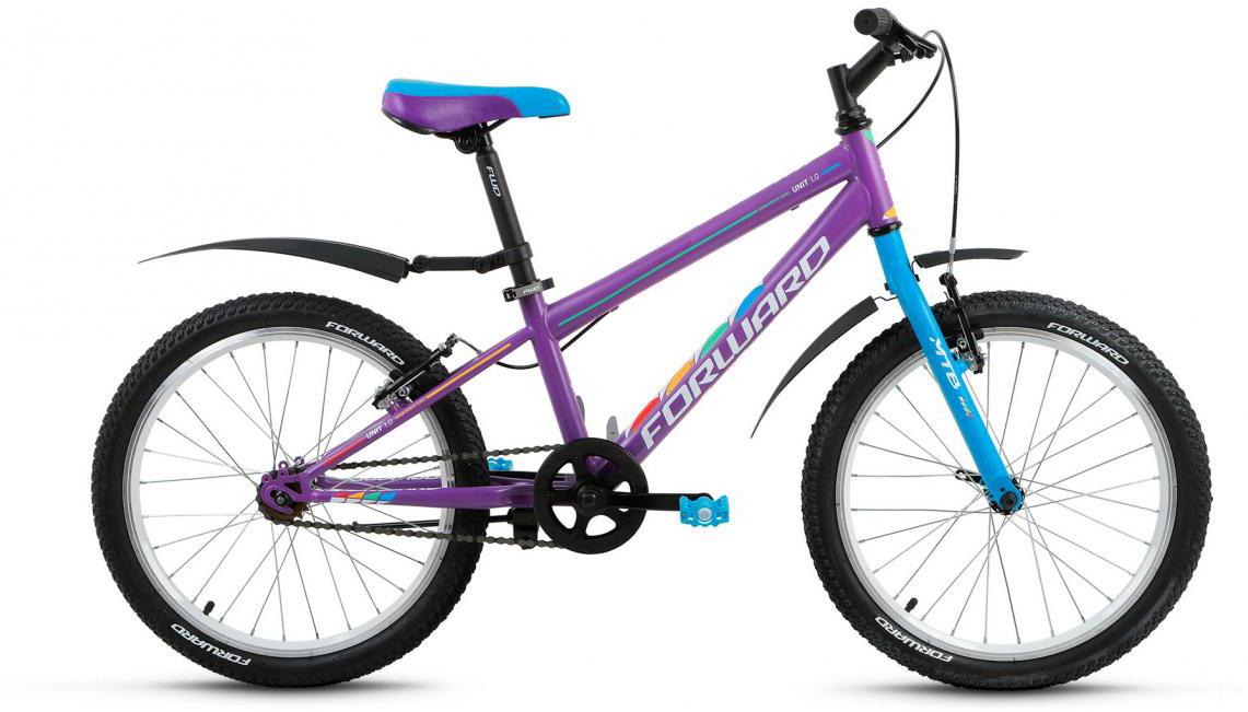 Велосипед детский Forward Unit 1.0 2017, цвет: фиолетовый, рама 10,5, колесо 20279746