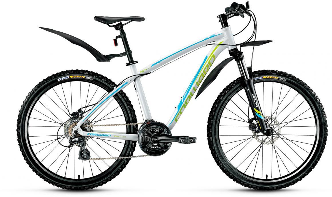 Велосипед горный Forward Agris 2.0 2017, цвет: белый, рама 17, колесо 26279754