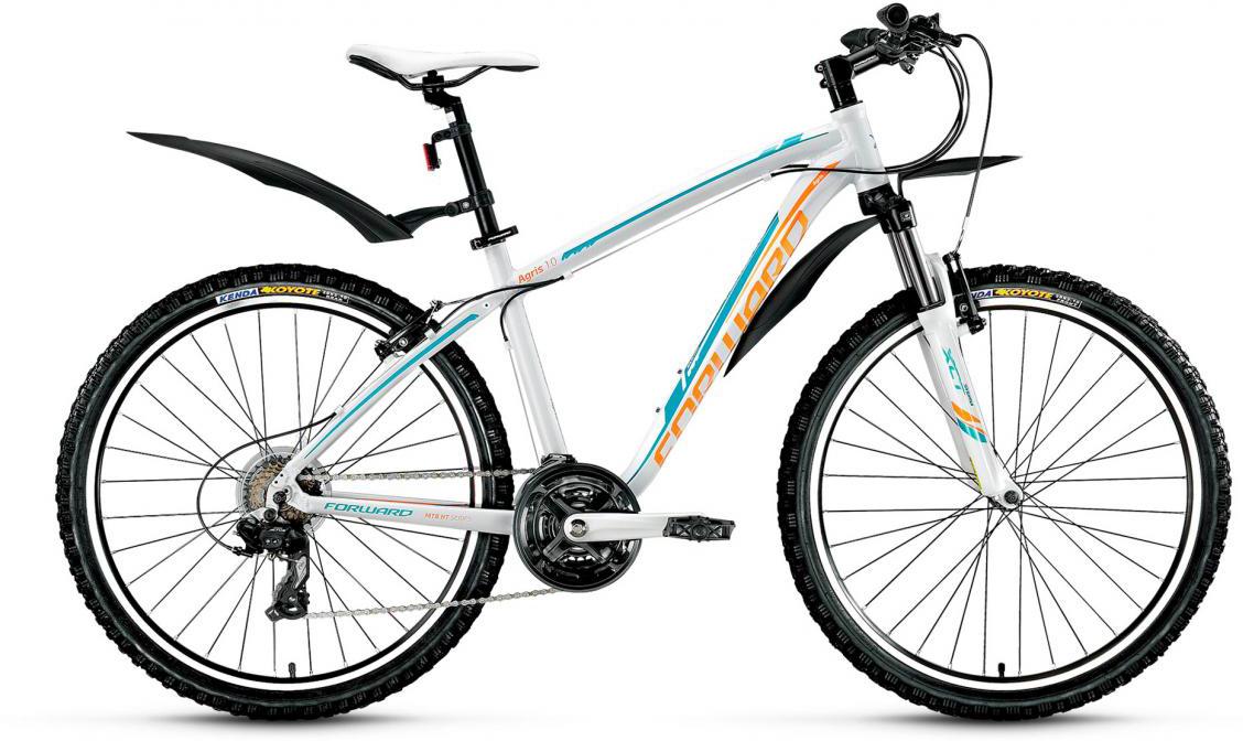 Велосипед горный Forward Agris Lady 1.0 2017, цвет: белый, рама 17, колесо 26279767