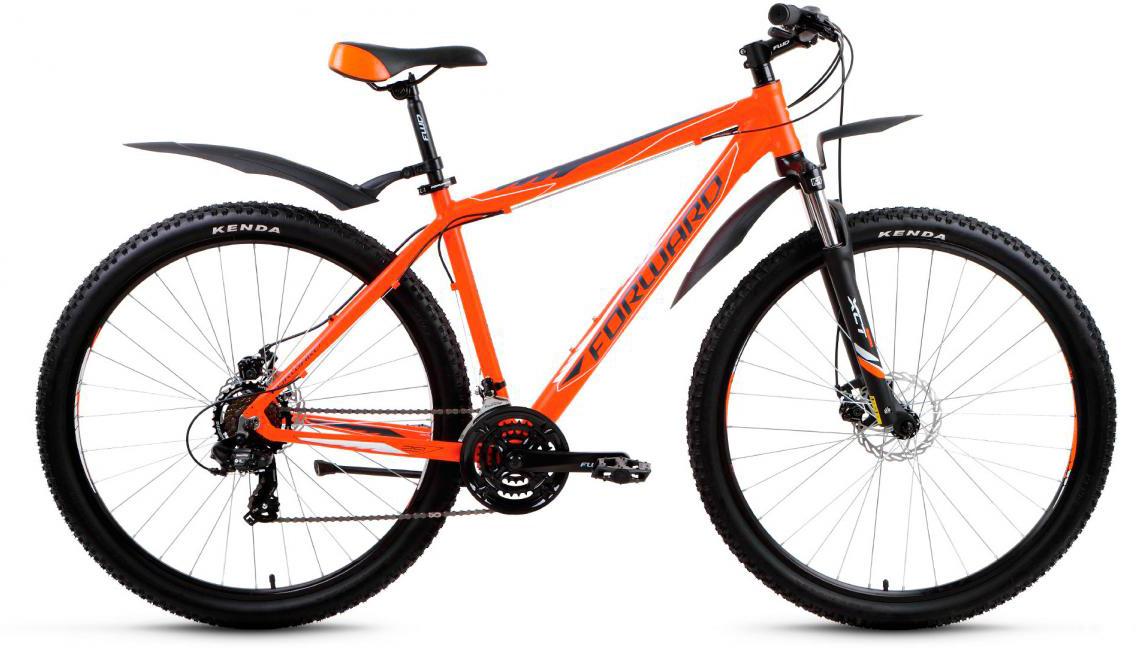 Велосипед горный Forward Apache 2.0 2017, цвет: оранжевый, рама 21, колесо 29279781