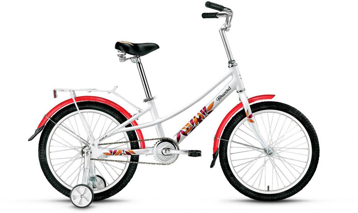 Велосипед детский Forward Azure 2017, цвет: белый, колесо 20 велосипед forward azure 20 20 2016