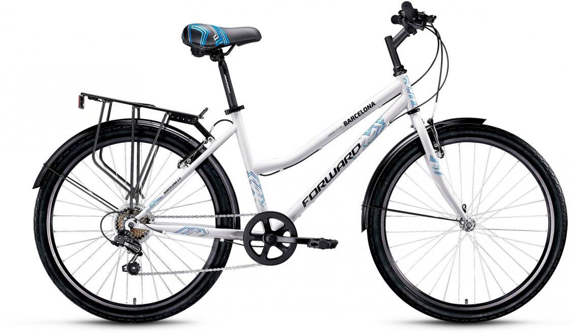 Велосипед городской Forward Barcelona 2.0 2017, цвет: белый, рама 17, колесо 26279814