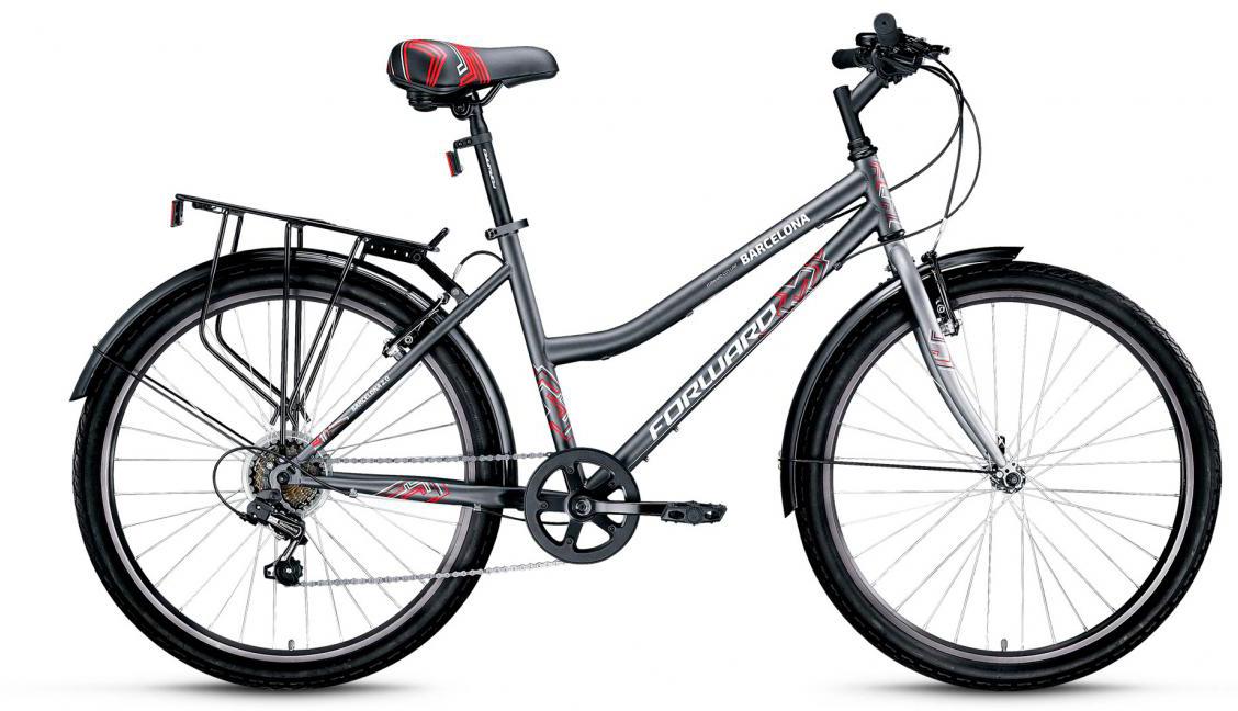 Велосипед городской Forward Barcelona 2.0 2017, цвет: серый, рама 17, колесо 26279815