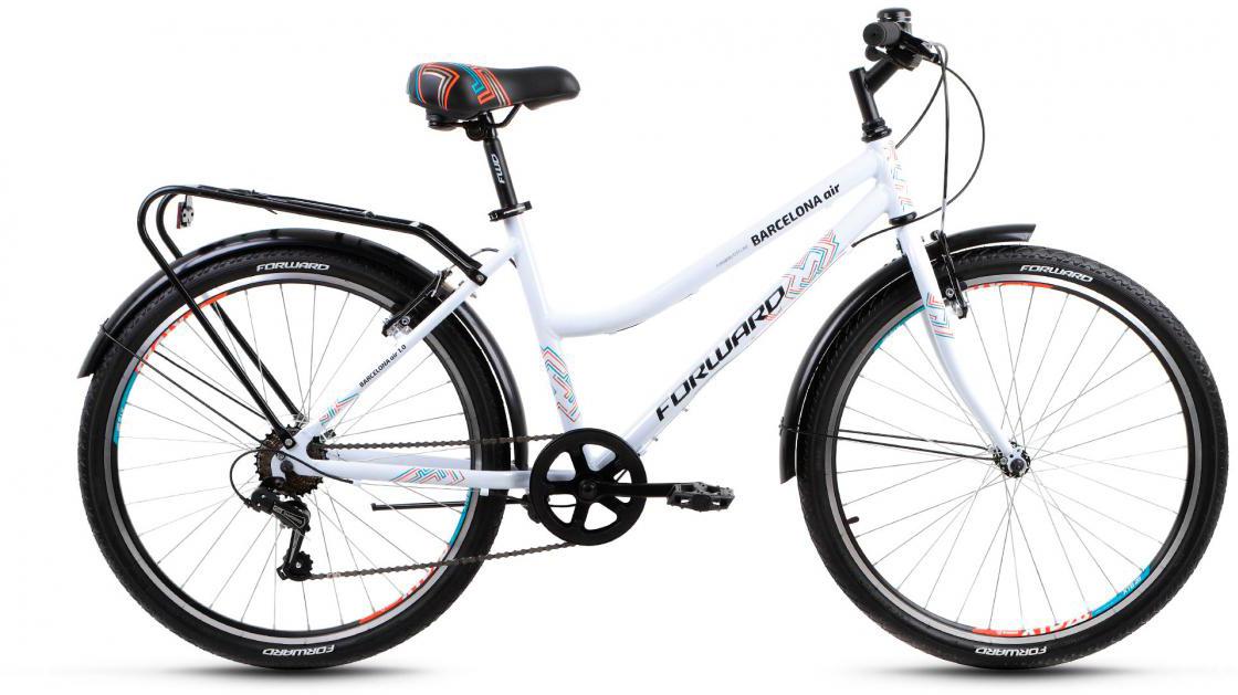 Велосипед городской Forward Barcelona Air 1.0 2017, цвет: белый, рама 17, колесо 26279816