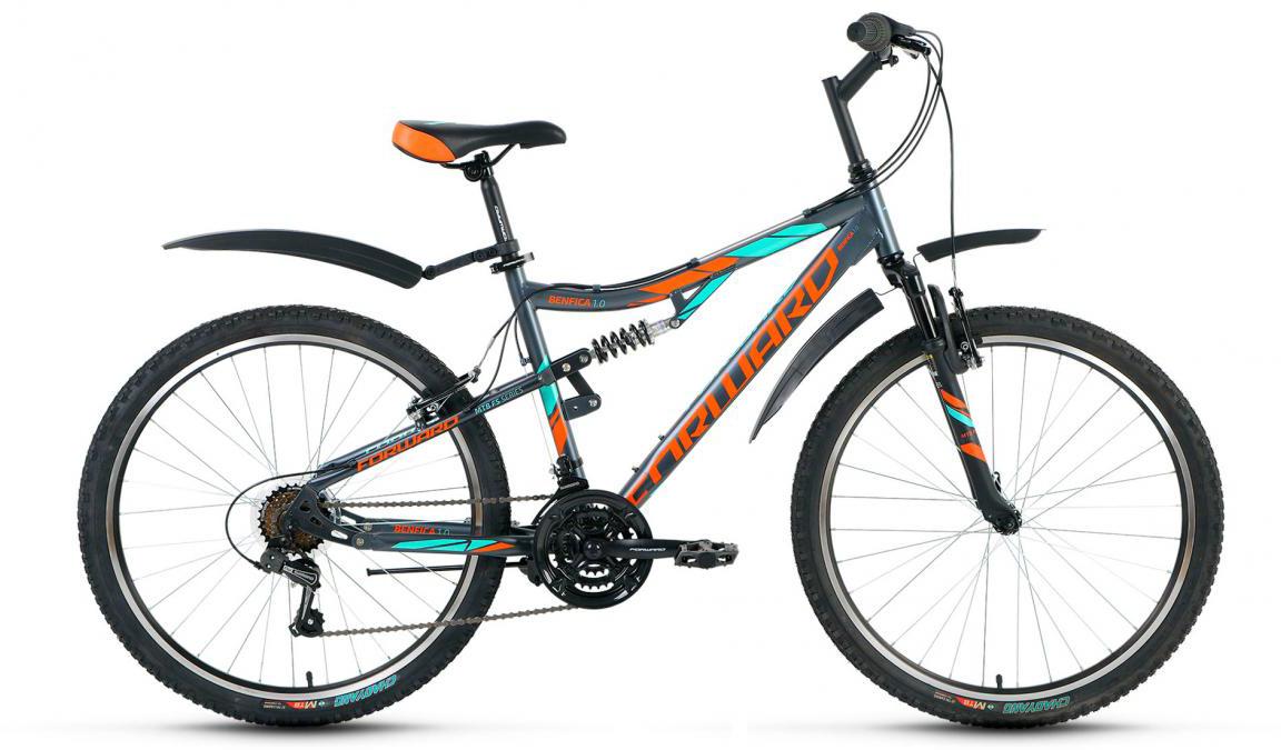 Велосипед горный Forward Benfica 1.0 2017, цвет: серый, рама 18, колесо 26279820