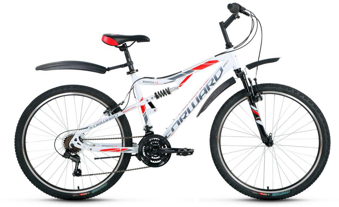Велосипед горный Forward Benfica 1.0 2017, цвет: белый, рама 16, колесо 26279821