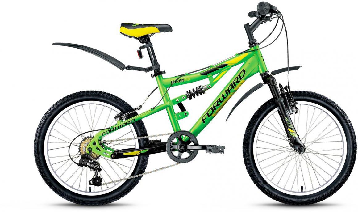 Велосипед детский Forward Buran 1.0 2017, цвет: зеленый, рама 13,5, колесо 20279824