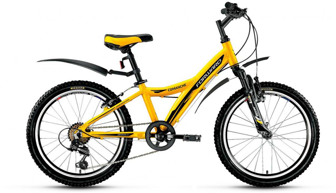 Велосипед детский Forward Comanche 2.0 2017, цвет: желтый, рама 10,5, колесо 20 catherine anderson comanche magic