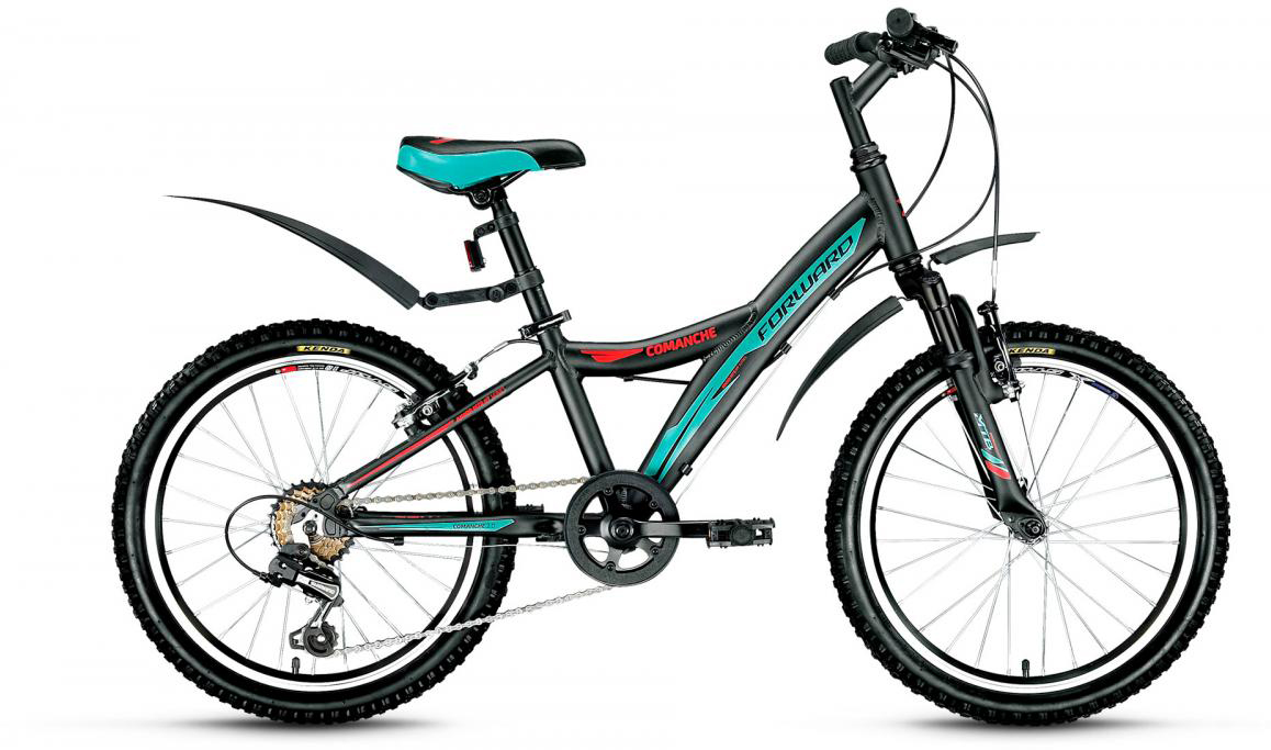 Велосипед детский Forward Comanche 2.0 2017, цвет: черный, рама 10,5, колесо 20 catherine anderson comanche magic