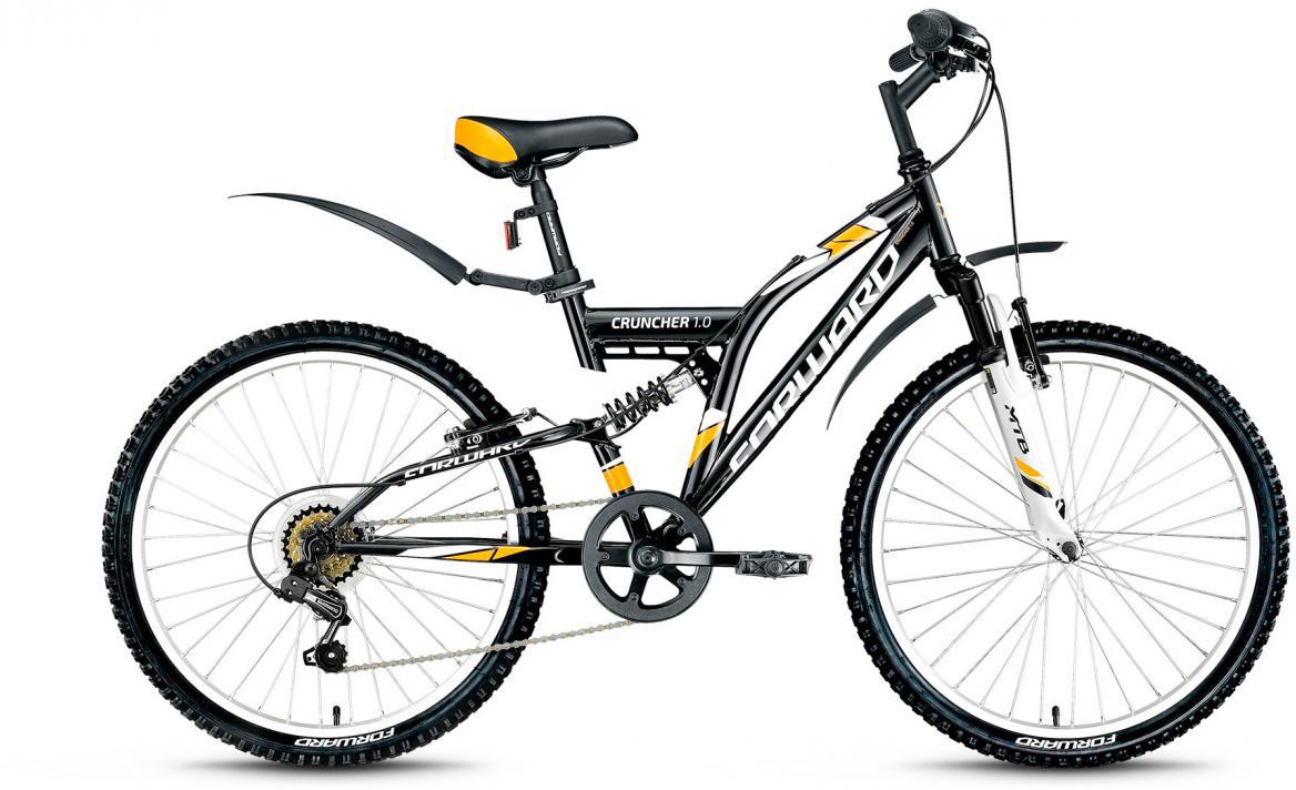 Велосипед детский Forward Cruncher 1.0 2017, цвет: черный, рама 14,5, колесо 24279840