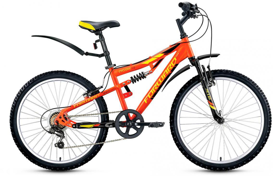 Велосипед детский Forward Cyclone 1.0 2017, цвет: оранжевый, рама 14,5, колесо 24 велосипед forward cyclone 2 0 2014