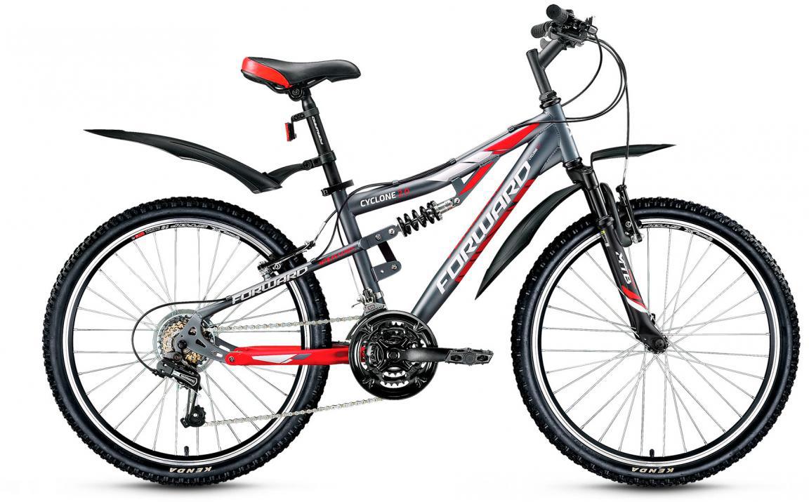 Велосипед детский Forward Cyclone 2.0 2017, цвет: серый, рама 14,5, колесо 24 велосипед forward cyclone 2 0 2014