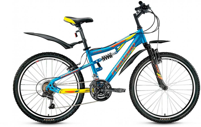 Велосипед детский Forward Cyclone 2.0 2017, цвет: синий, рама 14,5, колесо 24 велосипед forward cyclone 2 0 2014