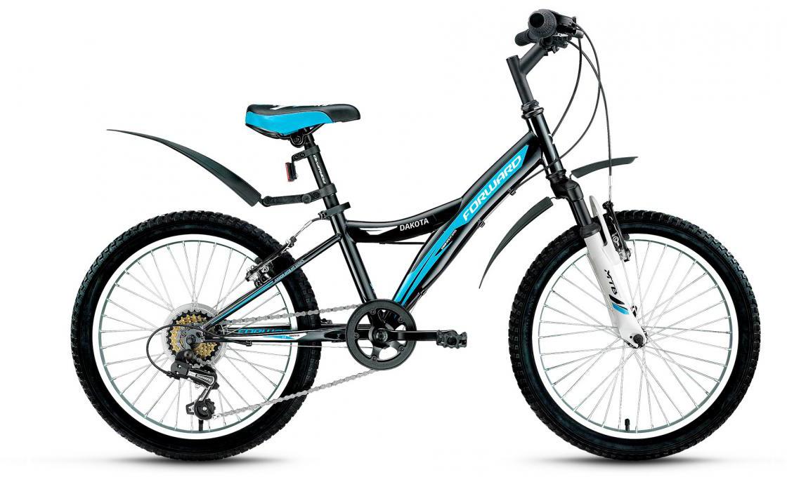 Велосипед детский Forward Dakota 2.0 2017, цвет: черный, рама 10,5, колесо 20279850