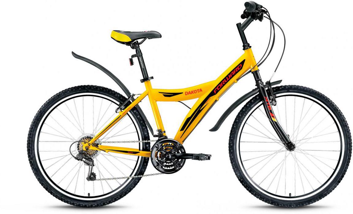 Велосипед горный Forward Dakota 1.0 2017, цвет: желтый, рама 16,5, колесо 26279856