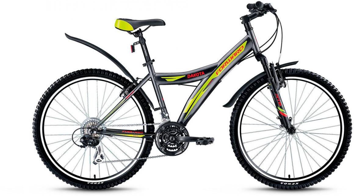 Велосипед горный Forward Dakota 2.0 2017, цвет: серый, рама 16,5, колесо 26279858