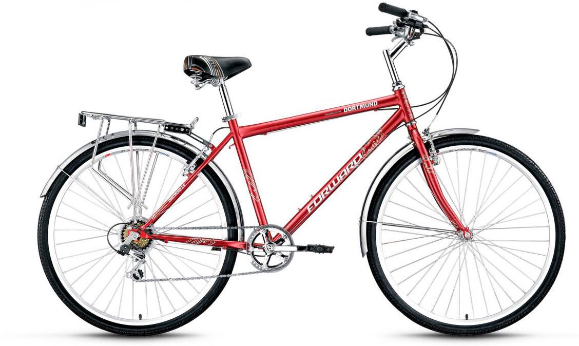Велосипед городской Forward Dortmund 2.0 2017, цвет: красный, рама 19, колесо 26279860