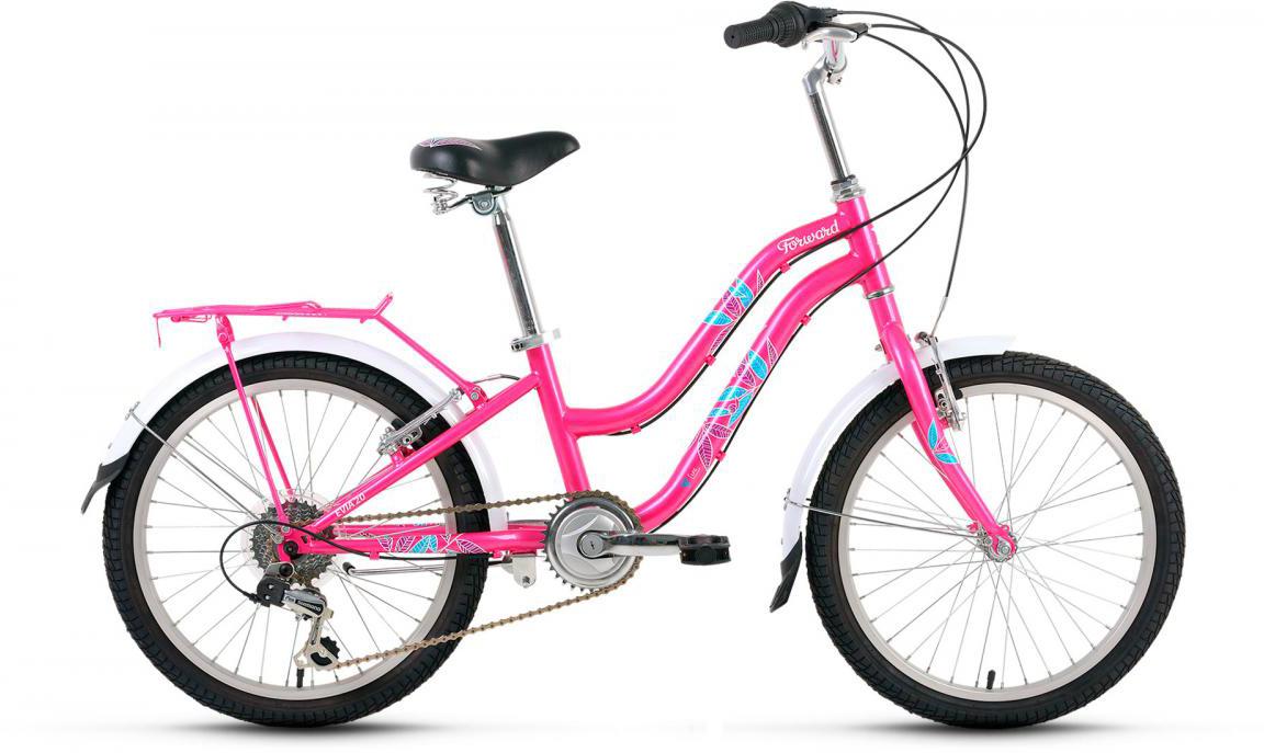 Велосипед детский Forward Evia 2017, цвет: розовый, рама 10,5, колесо 20279870