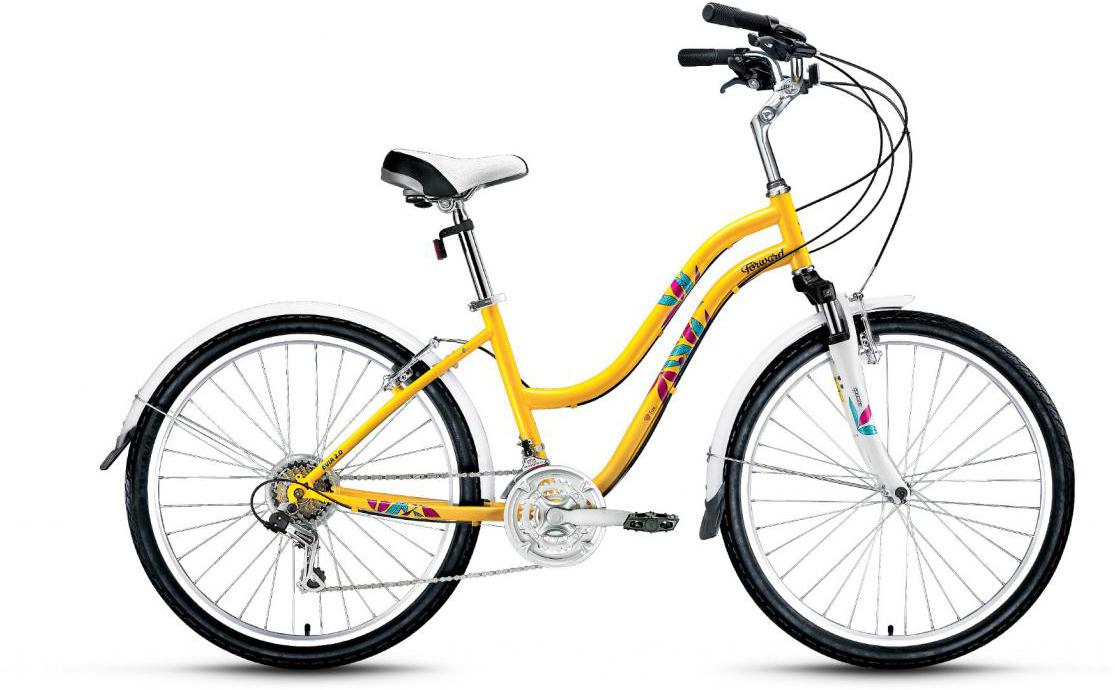 Велосипед городской Forward Evia 2.0 2017, цвет: желтый, рама 16, колесо 26279876