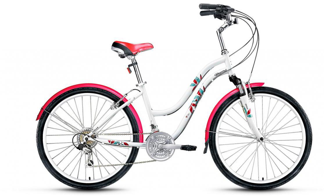 Велосипед городской Forward Evia 2.0 2017, цвет: белый, рама 16, колесо 26279877