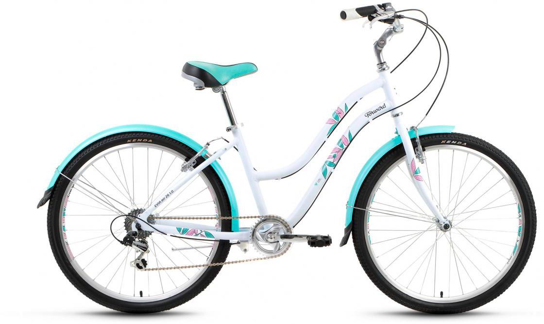Велосипед городской Forward Evia Air 1.0 2017, цвет: белый, рама 16, колесо 26279878
