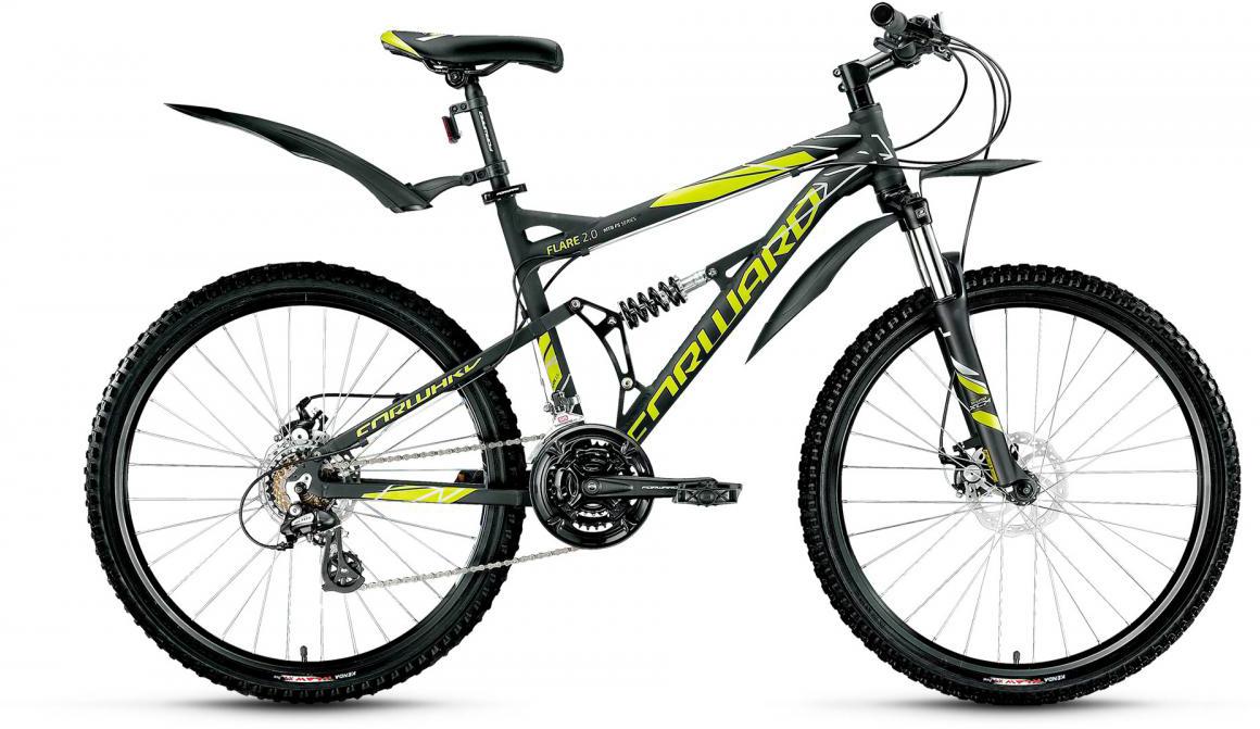 Велосипед горный Forward Flare 2.0 2017, цвет: черный, рама 18, колесо 26279883