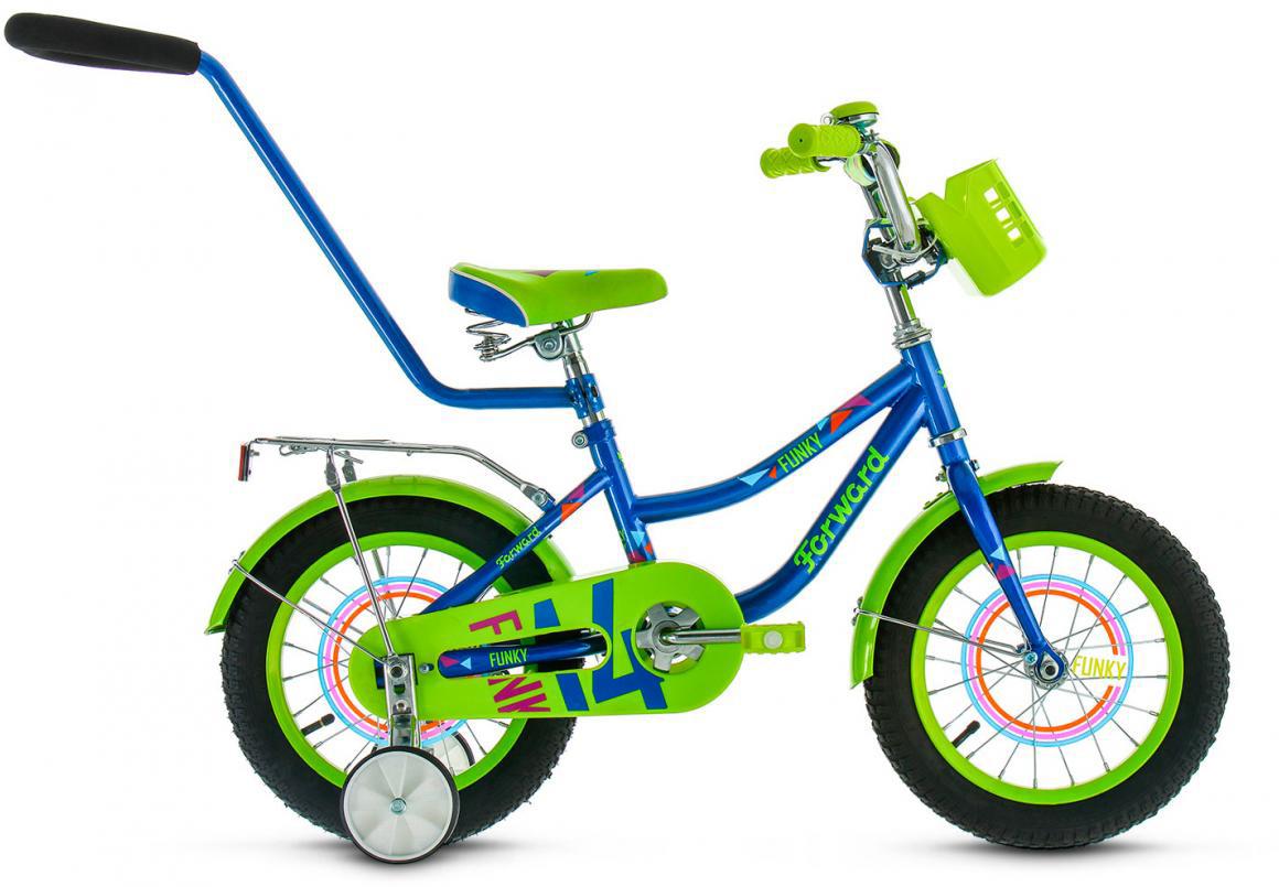 Велосипед детский Forward Funky Boy 2017, цвет: синий, колесо 14279900