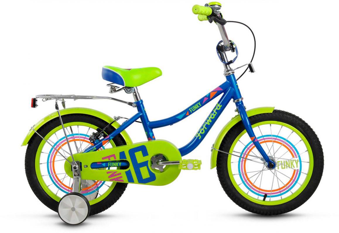 Велосипед детский Forward Funky Boy 2017, цвет: синий, колесо 16279905