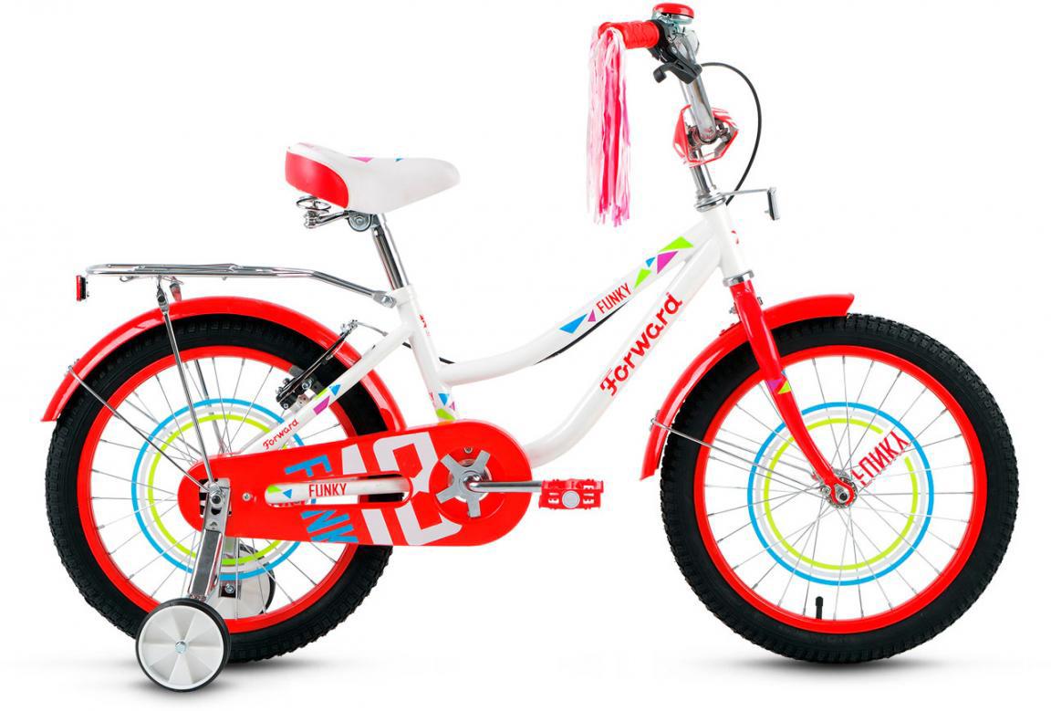 Велосипед детский Forward Funky Girl 2017, цвет: белый, колесо 18279910
