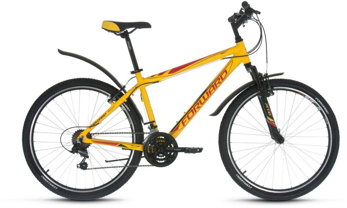 Велосипед горный Forward Hardi 1.0 2017, цвет: желтый, рама 17, колесо 26279921