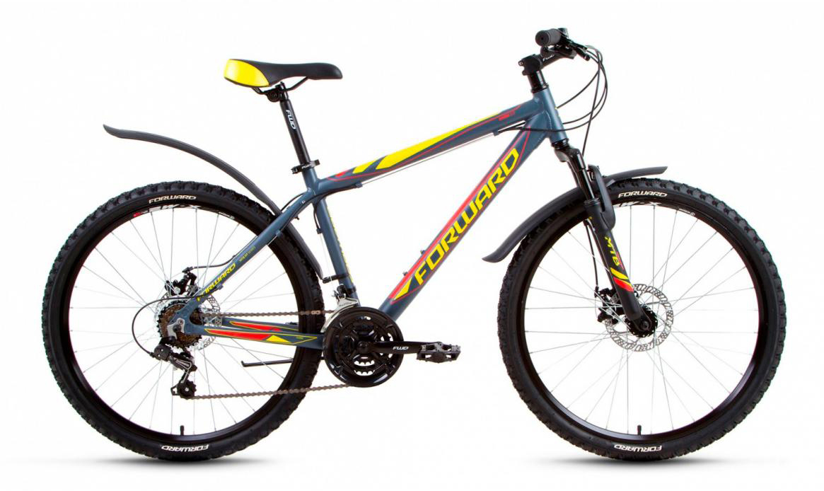 Велосипед горный Forward Hardi 2.0 2017, цвет: серый, рама 17, колесо 26279922