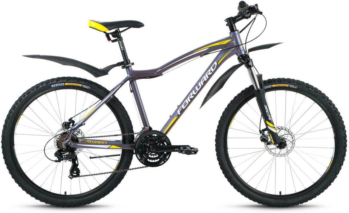 Велосипед горный Forward Hesper 2.0 2017, цвет: серый, рама 19, колесо 26279928